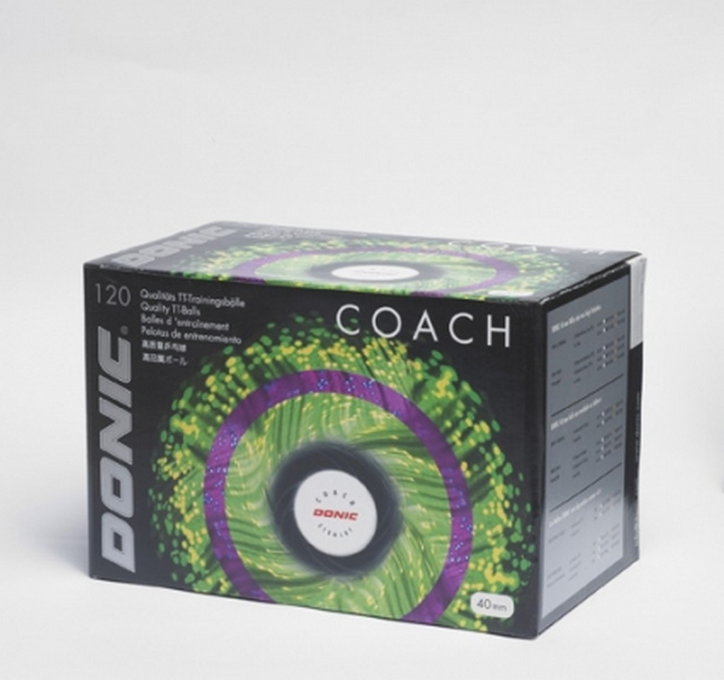 Míček DONIC Míčky Coach - oranžová -40 mm