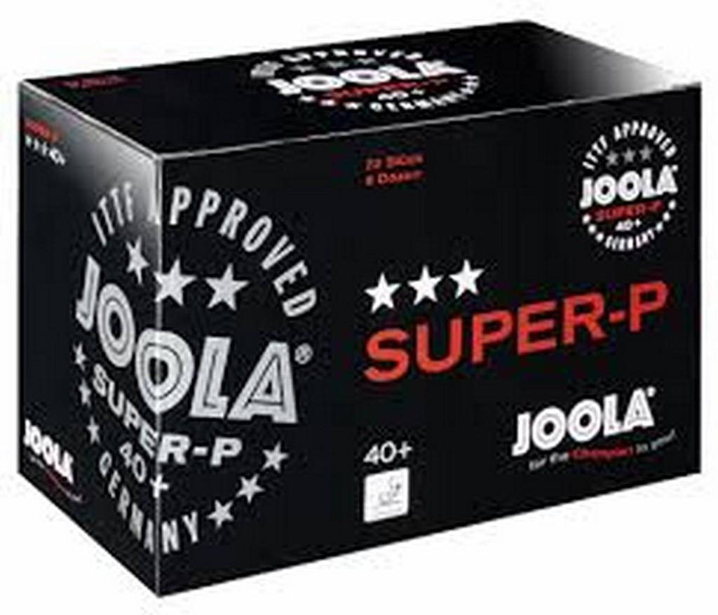 Míček JOOLA Super-P *** 40+ (72 ks) - bílá -40+