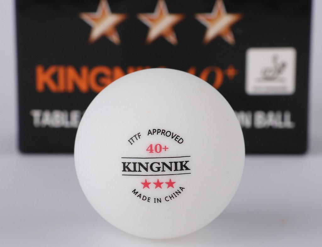 Míček KINGNIK Míčky 40+ *** (120ks)$ - bílá -40 mm