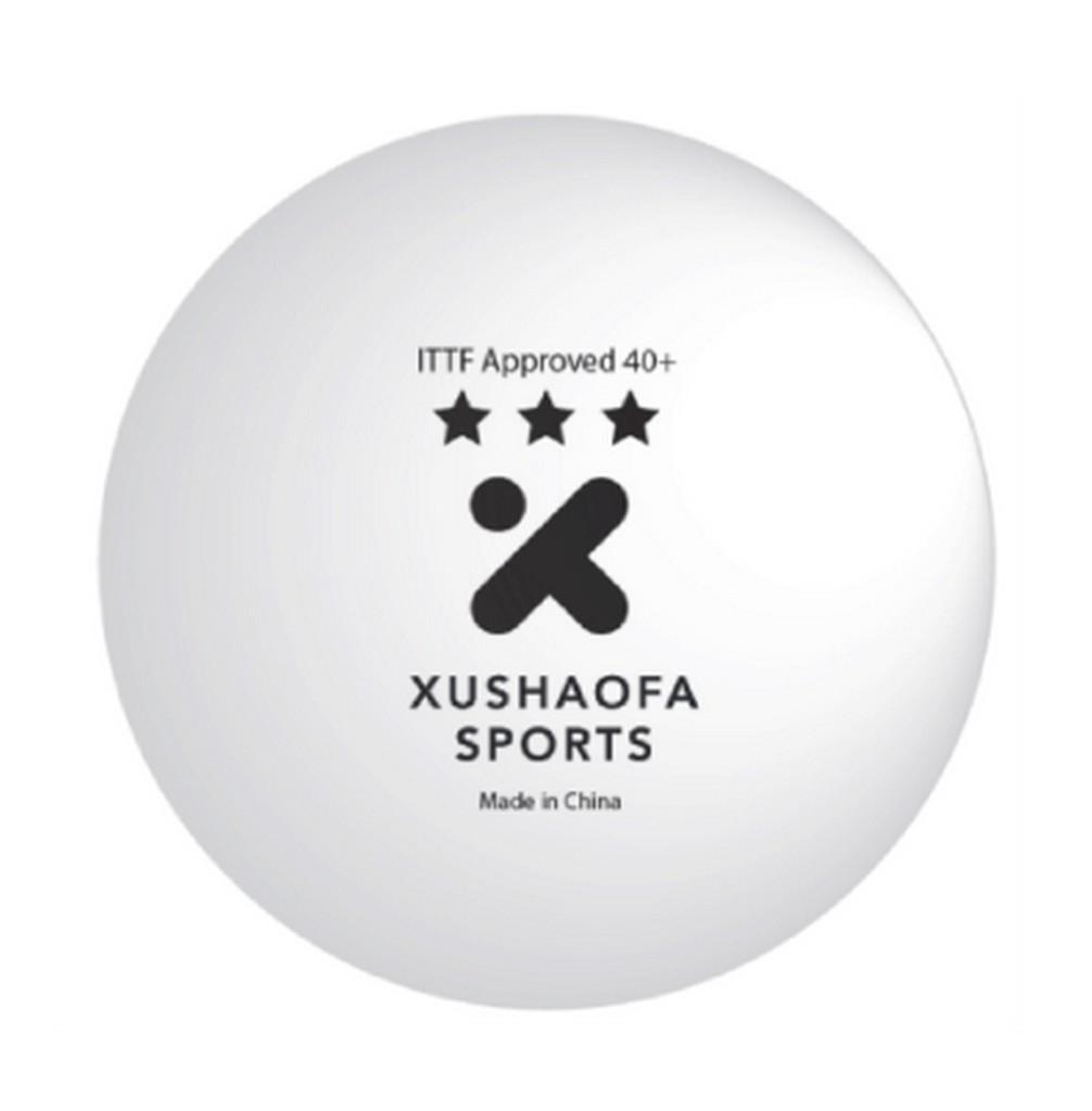 Míček XUSHAOFA *** 40+ (6 ks) - bílá -40+