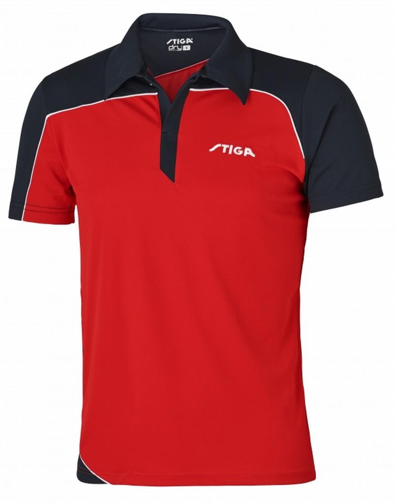 Polokošile STIGA Odyssey červená s modrýá - červená s modrým -XS