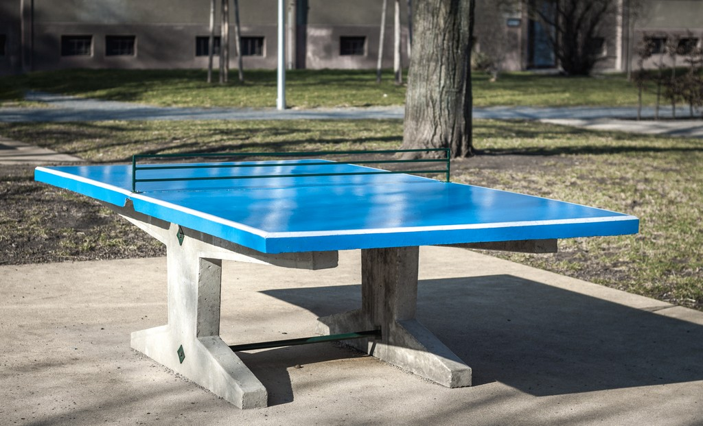 Stůl STEN marketing Beton - modrá -