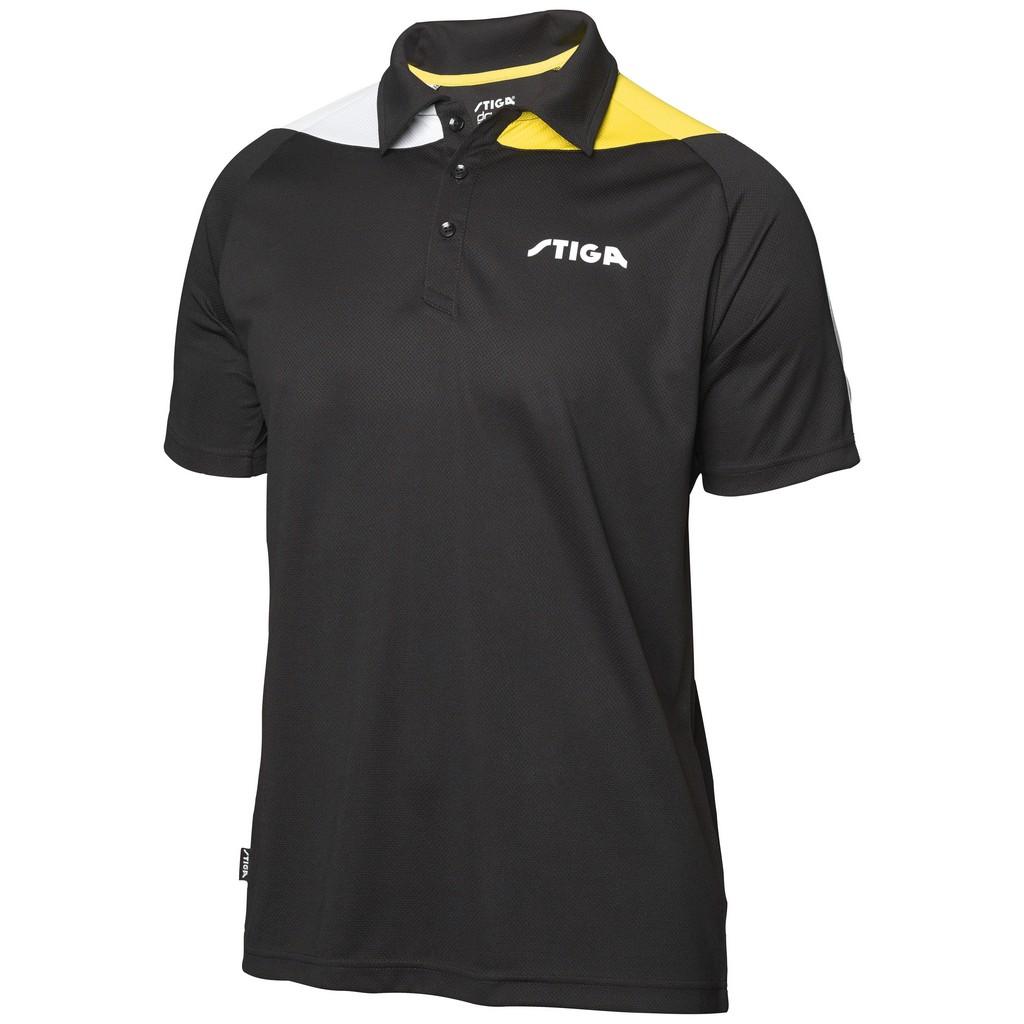Polokošile STIGA Pacific černá se žlutýá - černá se žlutým -XS