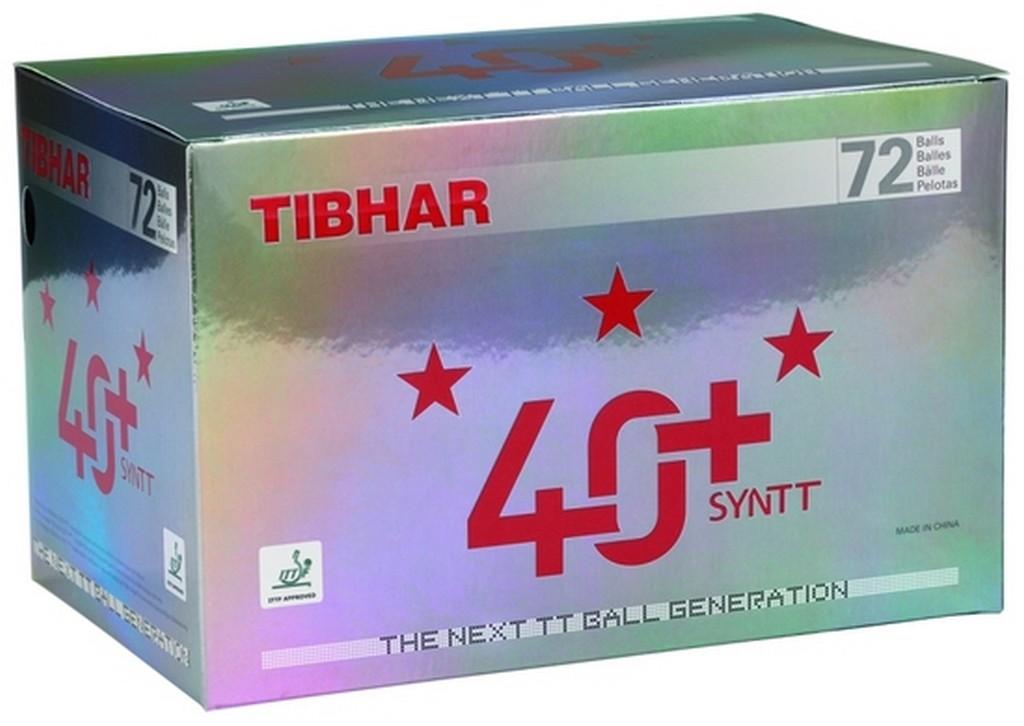 Míček Tibhar 40+ SYNTT *** (72 ks) $ - bílá -40