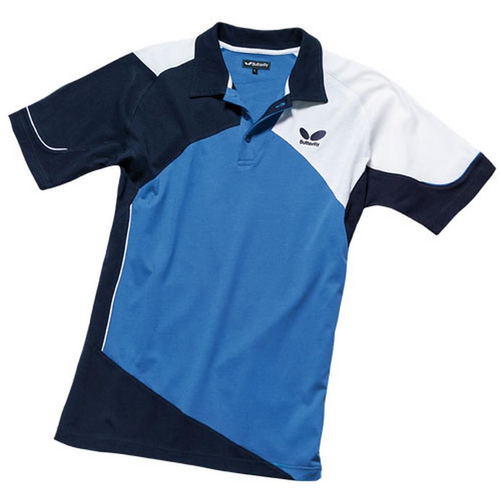 Polokošile BUTTERFLY Toyo (bavlna) modrá - modrá -S