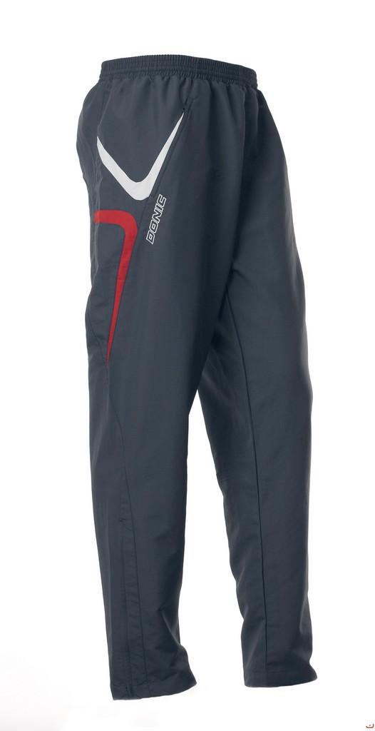 DONIC Trophy (kalhoty) šedo-červená - šedo-červená -M