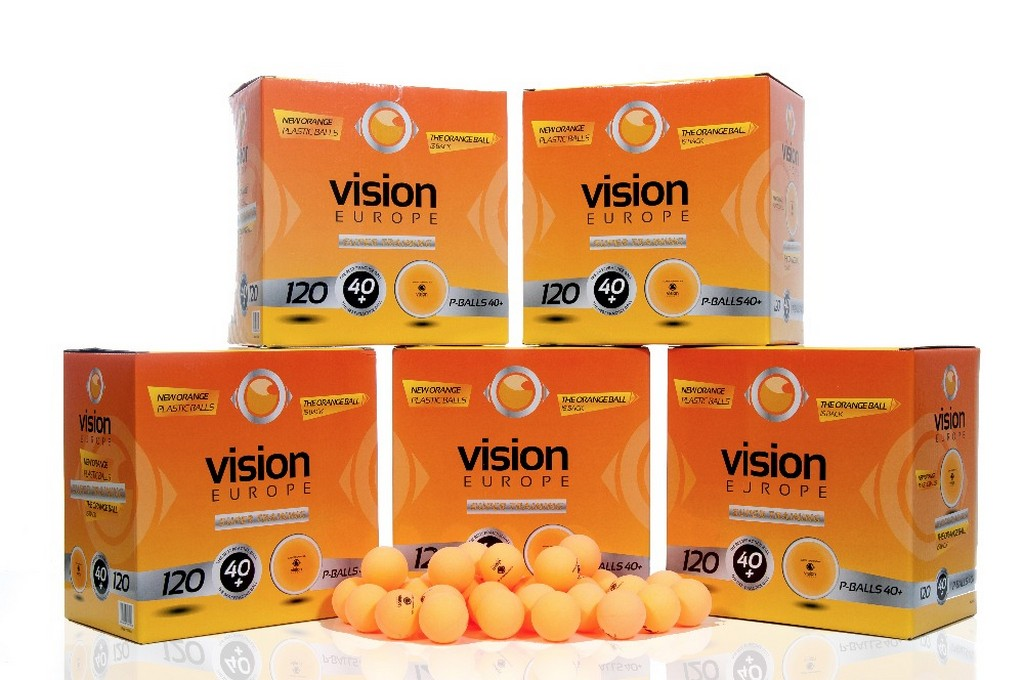 Míček VISION Super Training 40+ (600ks)$ - oranžová -40 mm
