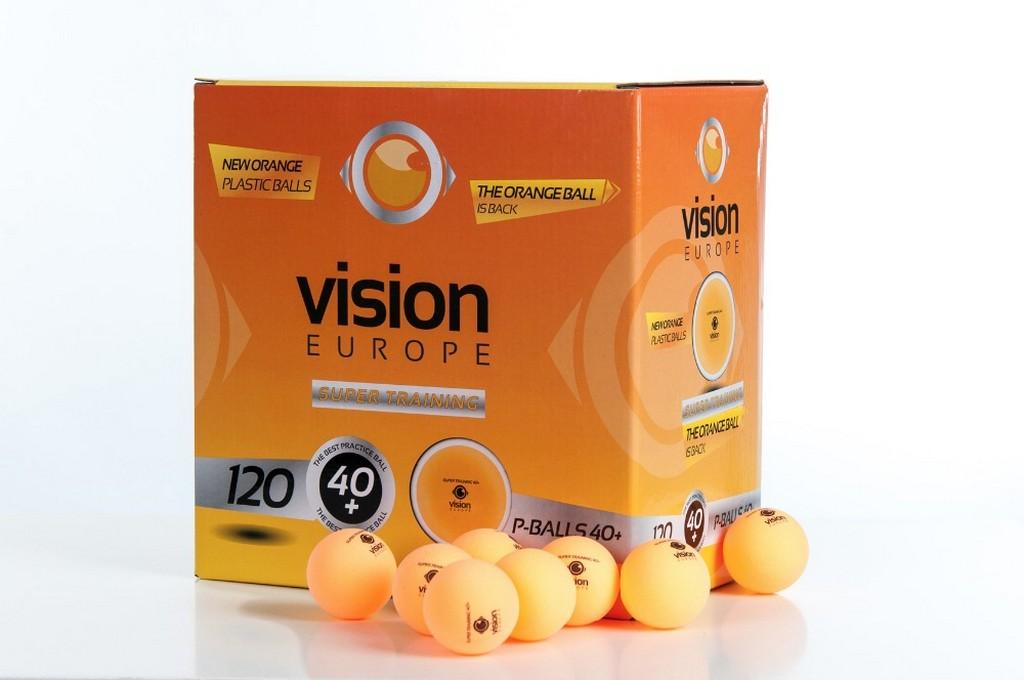 Míček VISION Super Training 40+ (120ks) - oranžová -40 mm
