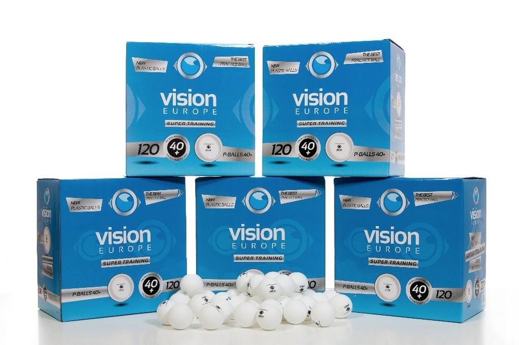Míček VISION Super Training 40+ (600ks)$ - bílá -40 mm